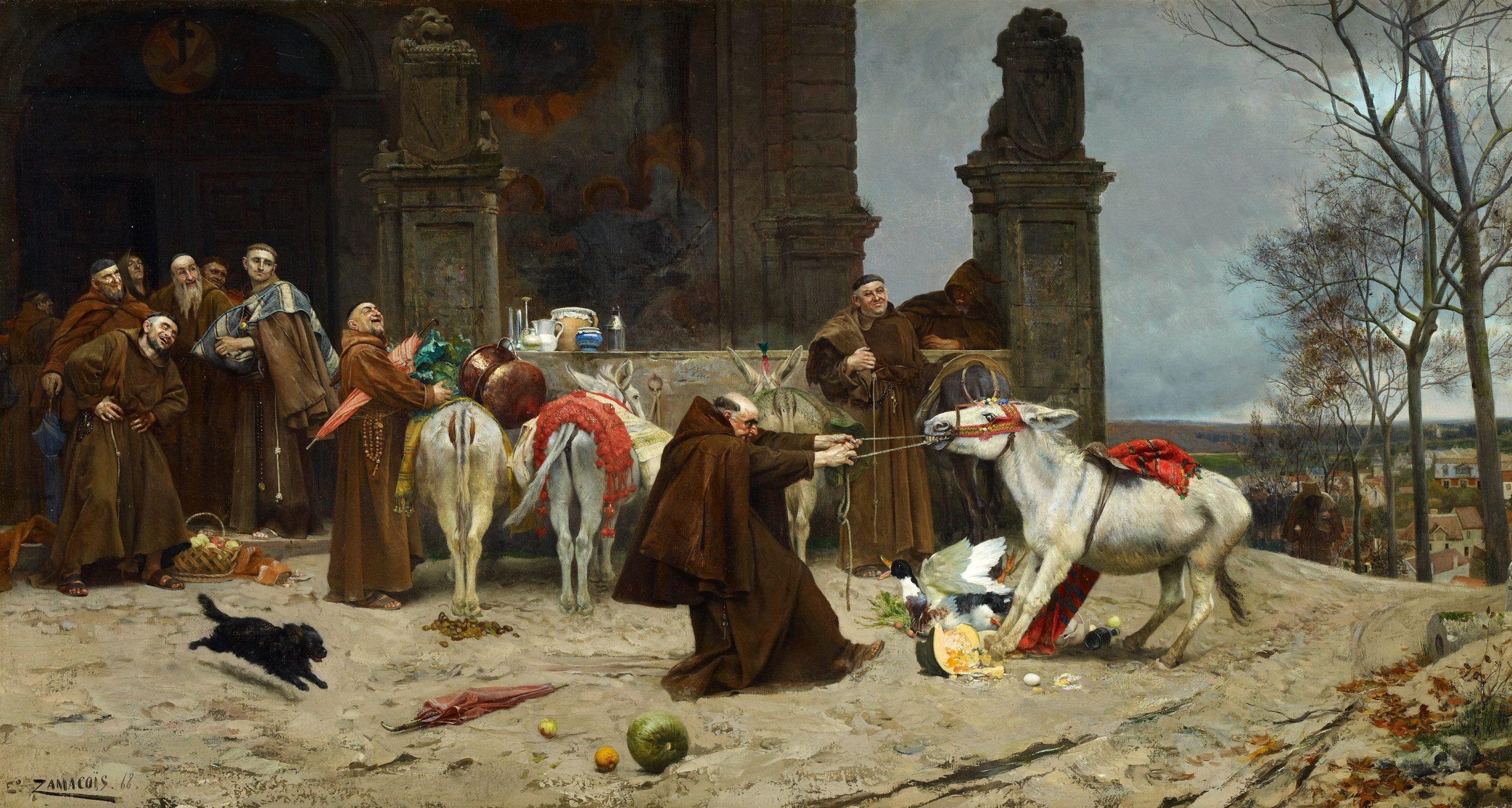 1868 Zamacois Eduardo, Regresso al Convent, Fondation CarmenThyssen, Malaga, CTB 199726