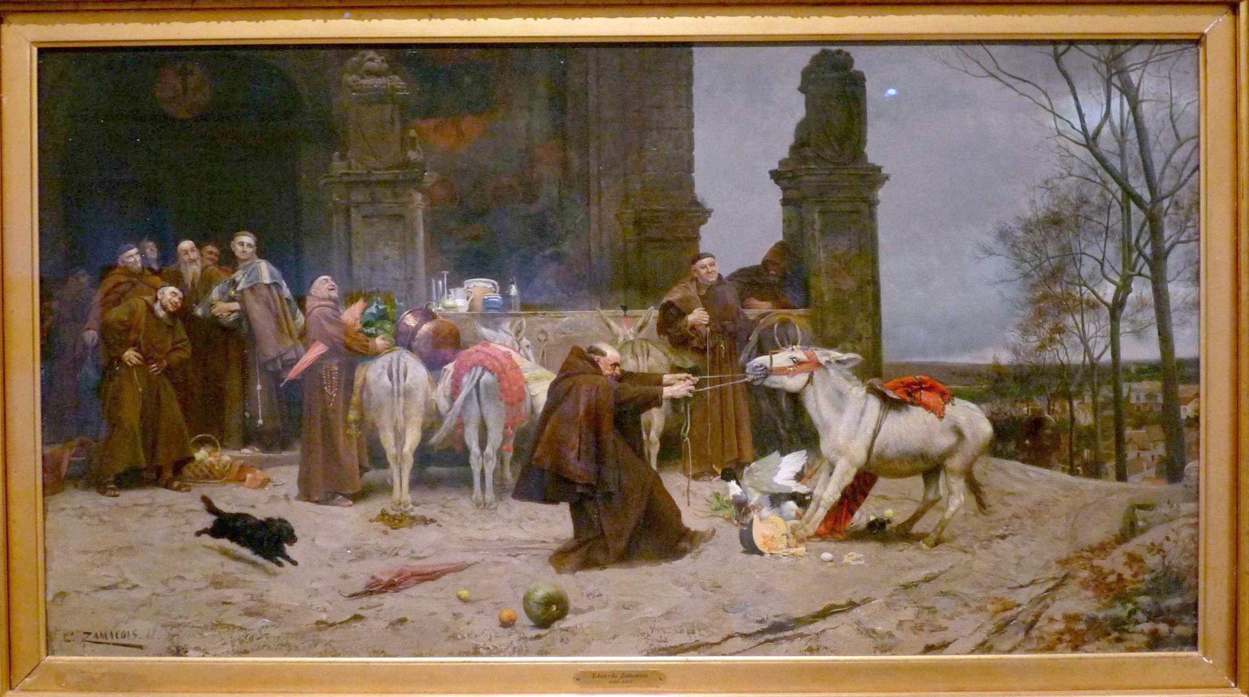 1868 Zamacois Eduardo, Regresso al Convent, Fondation Carmen Thyssen, Malaga