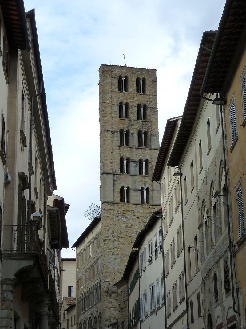 Arezzo, église Santa-Maria e Pieve, vu du Corso Italia Jean-François Martine