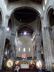 Arezzo, église Santa-Maria e Pieve, Croisée des transepts, chœur surélevé au dessus de la crypte, XIIè s., Cliché Jean-François Martine