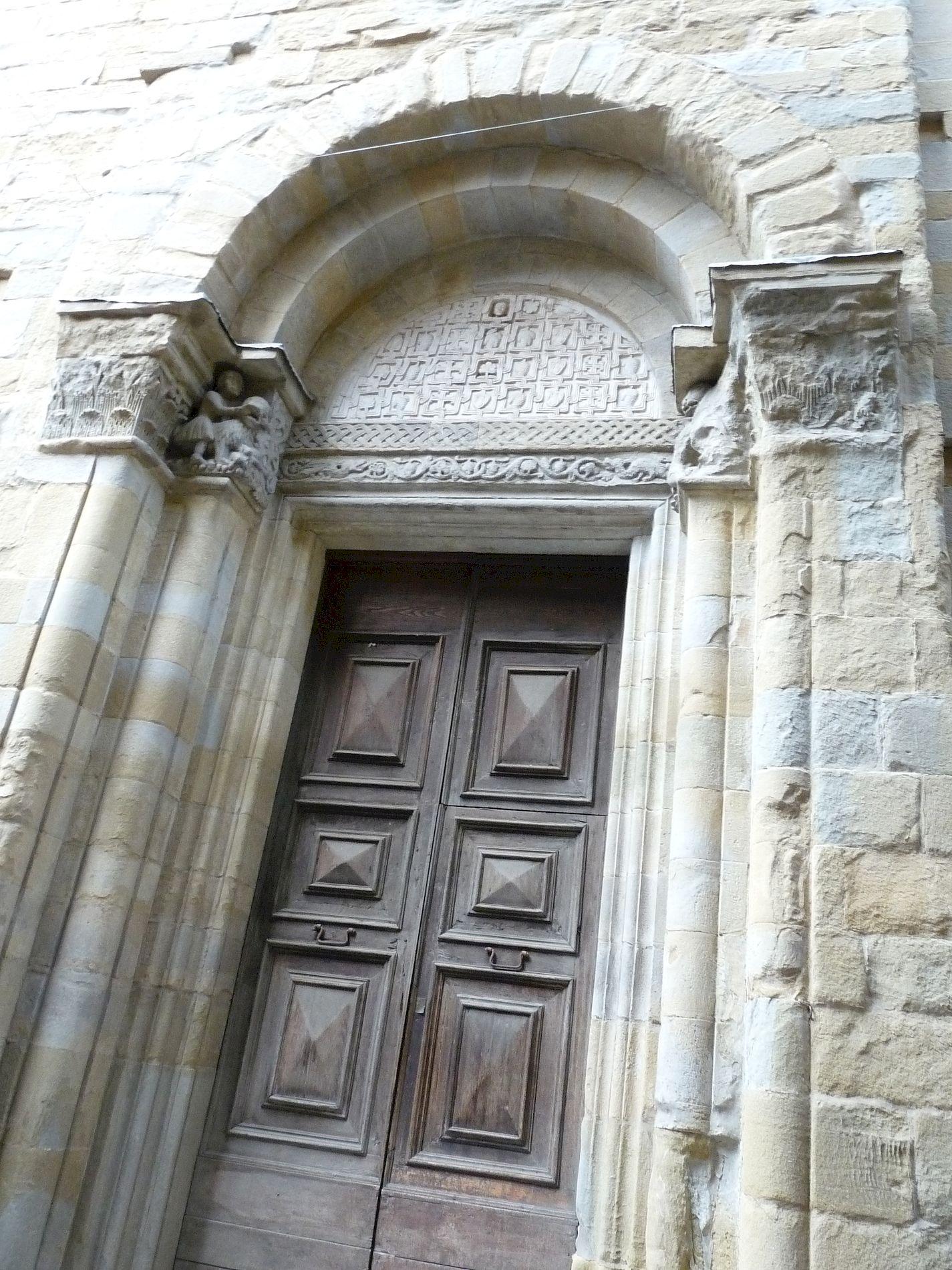 Arezzo, Santa_Maria e Pieve, Porte Sud, cliché Jean-François Martine