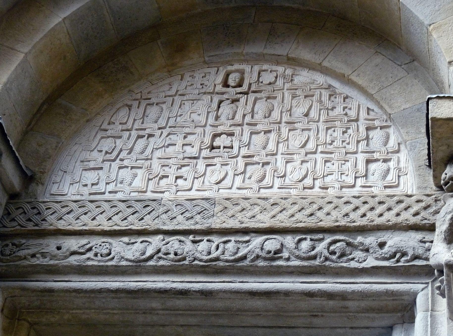 Arezzo, Santa_Maria e Pieve, détail de la porte Sud, cliché Jean-François Martine