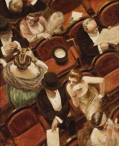 1925 environ, Albert GUILLAUME, Au spectacle