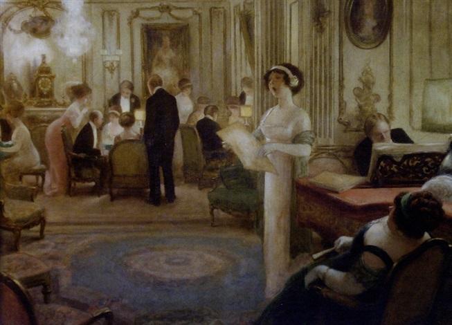 1925 environ, Albert GUILLAUME, Réception... du chant