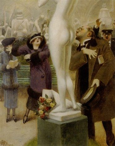 1925 environ, Albert GUILLAUME, Un moderne Pygmalion