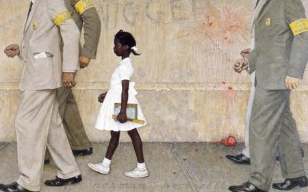 """47 Norman Rockwell, deux peintures fortes """"The Problem We All Live With"""", et dans un autre regard, """"le critique d'art"""""""