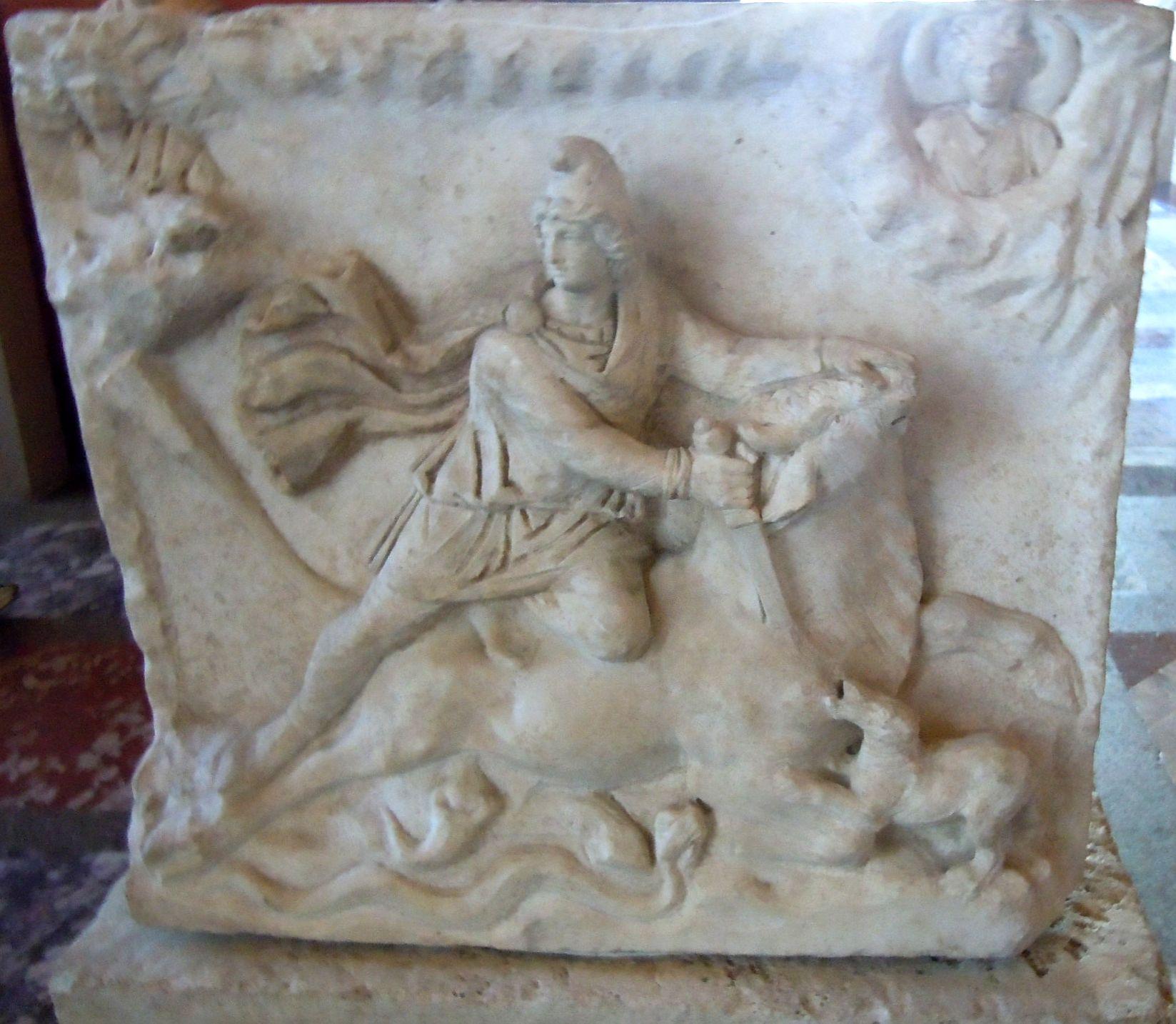 200c,Louvre, Rome, taurauctonie Mithriacienne, face sacrificielle, JFMartine