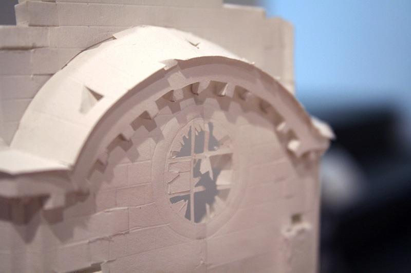 2007, Callesen, Peter, détail du découpis de l'église luthérienne Frauenkirche de Dresde